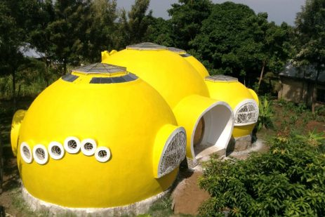 Better Me Kenya Sustainable Yellow Dome Home